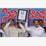Chandrababu naidu receives guinness worl...