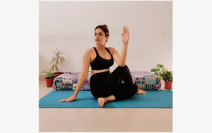 Shraddha Das During Yoga Pics