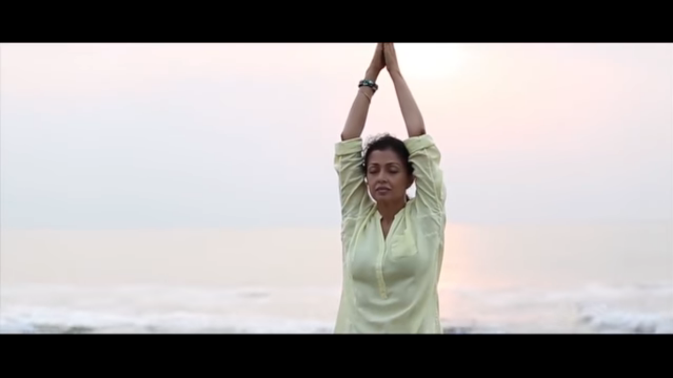 international yoga day promo with actress Gautami tadimalla
