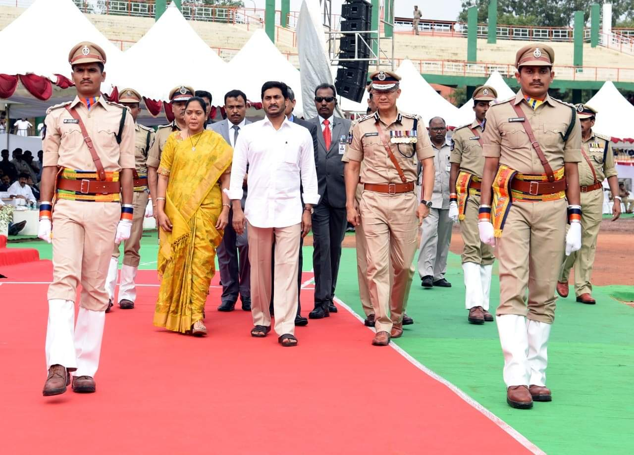 AP CM Y.S.Jaganmohan Reddy Participation in Police Commemoration Day at Vijayawada