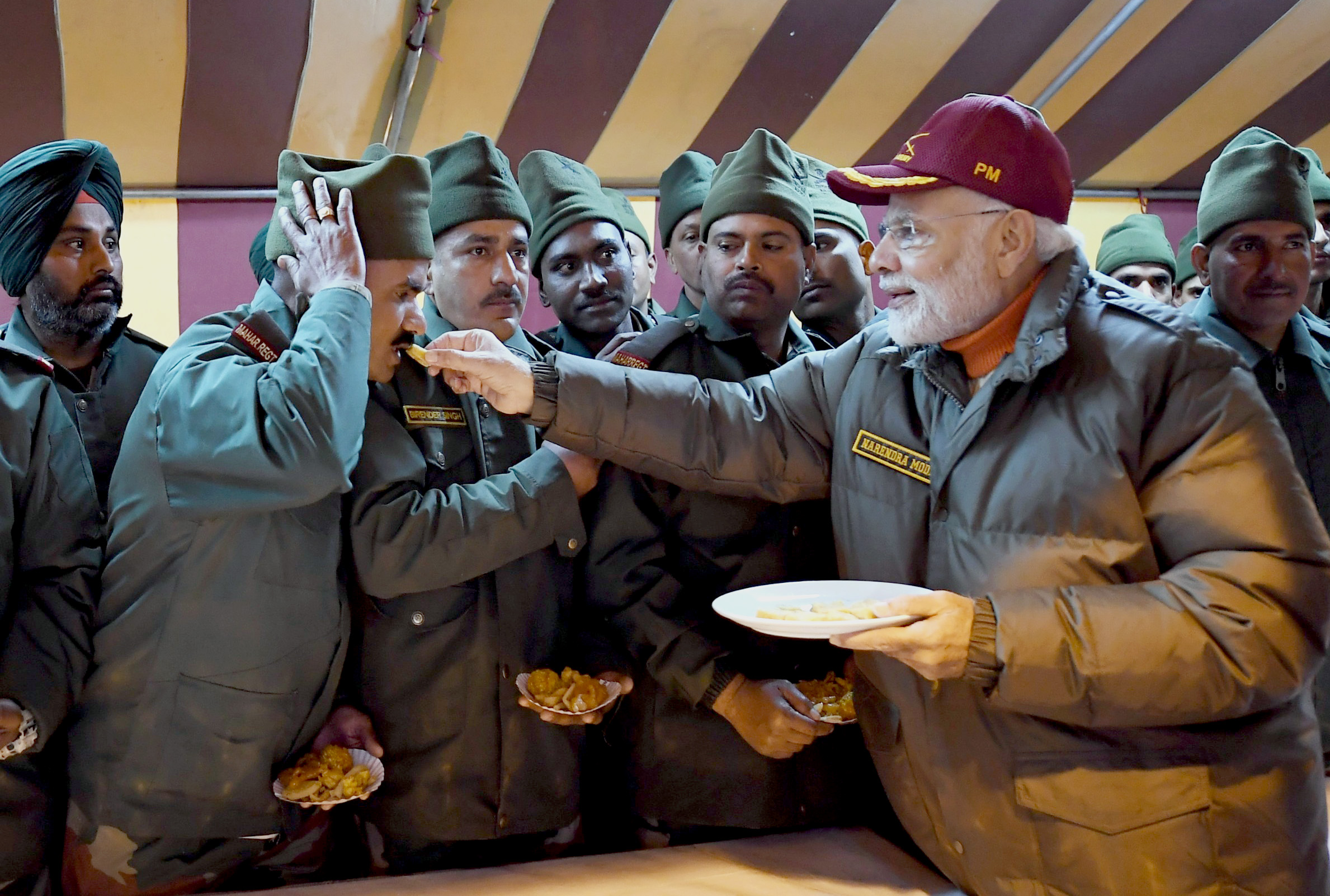 PM Modi celebrates Diwali with jawans of...