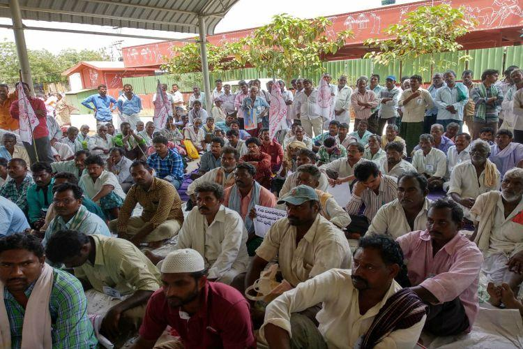 Massive protest by AP tenant farmers see...