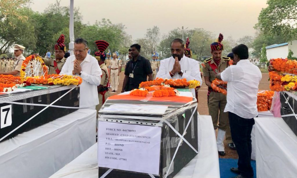 Sukma attack: Tributes paid to martyred ...